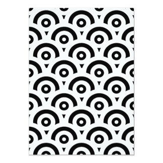 Abstract pattern - black and white. card