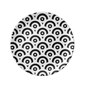 Abstract pattern - black and white. plate