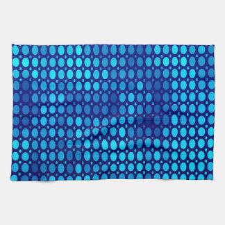 Abstract Pattern Blue Circles Tea Towels