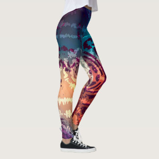 Abstract Pattern Colorful Leggings