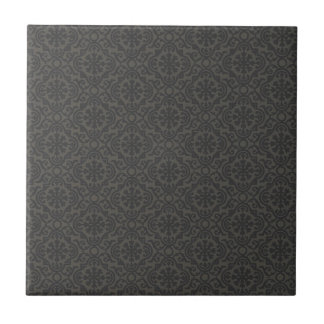 Abstract pattern dark decorative tile
