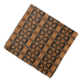 Abstract Pattern Dividers 02 Brown Black Head Kerchiefs