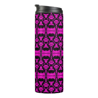 Abstract Pattern Dividers 02 Purple Black Thermal Tumbler