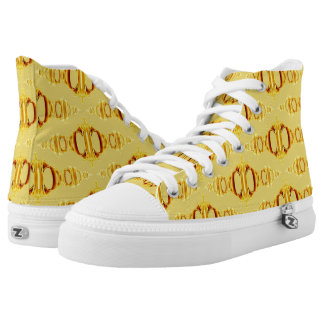 Abstract Pattern Dividers 03 Golden Brown Yellow High Tops