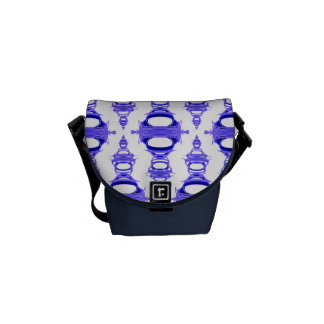 Abstract Pattern Dividers 03 Violet Custom White Courier Bag