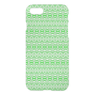 Abstract Pattern Dividers 07 Green White iPhone 7 Case