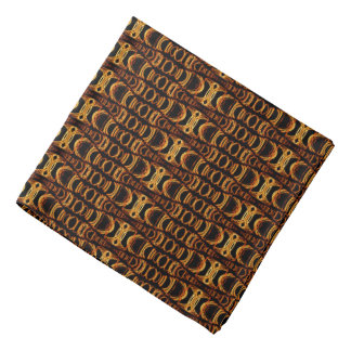 Abstract Pattern Dividers 07 Orange Black Do-rags