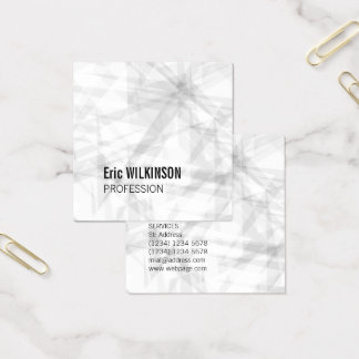 Abstract pattern geometric art square business card