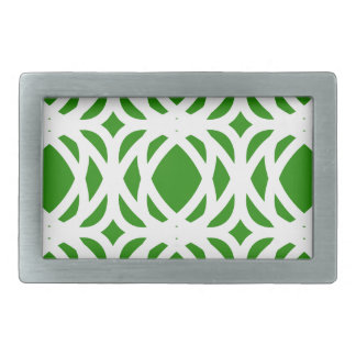 Abstract pattern - green and white. belt buckle