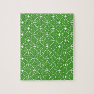 Abstract pattern - green and white. jigsaw puzzle