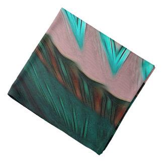 Abstract Pattern Green Brown And Grey Bandana