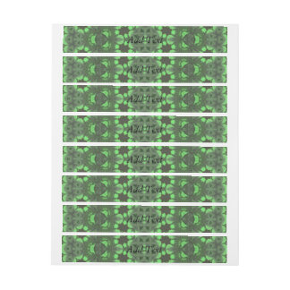 Abstract Pattern Green Wraparound Address Label