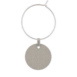 Abstract Pattern grey Wine Charm