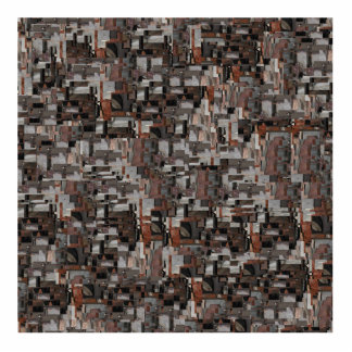 Abstract Pattern in Brown and Gray. Photo Sculptures