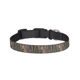 Abstract pattern in ethnic style dog collars