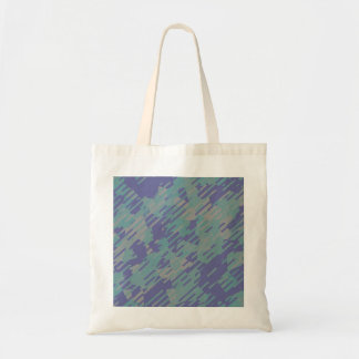 Abstract Pattern in Purple, Green, and Khaki Bag