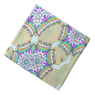 Abstract Pattern Multi Colour Tile Head Kerchiefs