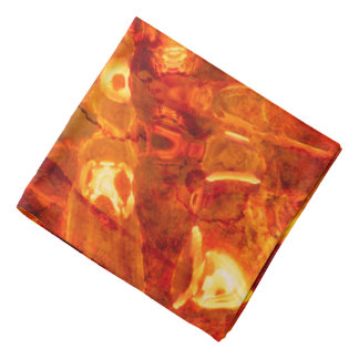 Abstract Pattern Orange Light Effect Bandana