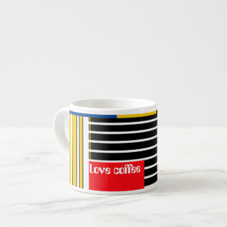Abstract pattern . Patchwork . Espresso Cup