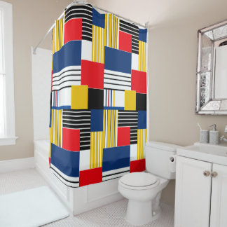 Abstract pattern . Patchwork . Shower Curtain