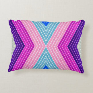 ABSTRACT PATTERN PILLOW, Purple Blue Retro Decorative Cushion