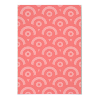 Abstract pattern - pink. card