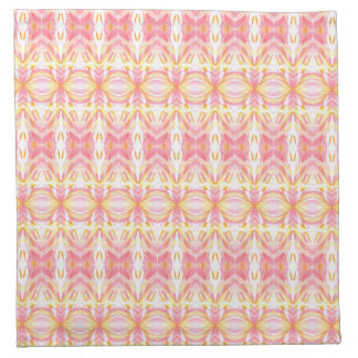 ABSTRACT PATTERN PINK & YELLOW Cloth Napkin