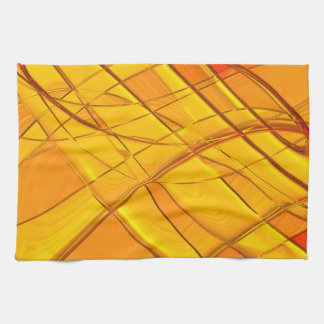 Abstract Pattern Purple And White Lights- Hand Towel