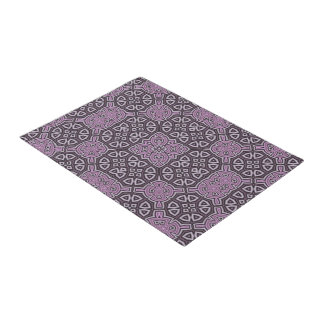 Abstract Pattern purple Doormat