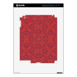 Abstract Pattern Red iPad 3 Decals