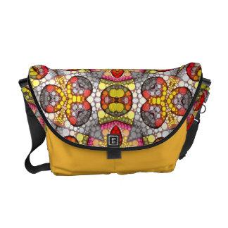 Abstract Pattern Rickshaw Messenger Bag