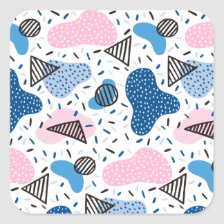 Abstract Pattern Square Sticker