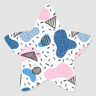 Abstract Pattern Star Sticker
