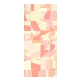 Abstract Pattern Terracotta Pink Cream Colors Customized Rack Card