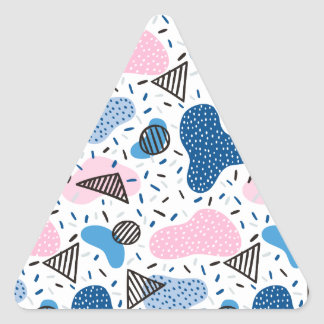 Abstract Pattern Triangle Sticker