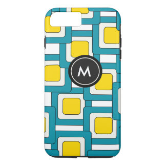 Abstract Pattern with monogram iPhone 7 Plus Case