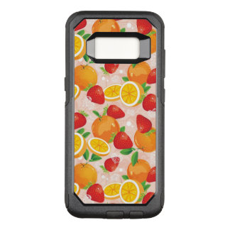 Abstract pattern with strawberry OtterBox commuter samsung galaxy s8 case