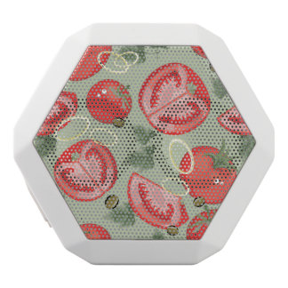 Abstract pattern with tomato white boombot rex bluetooth speaker