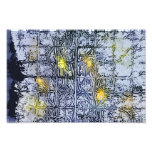 Abstract Pattern with Wax and Ink - Blue Yellow