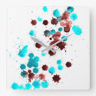 Abstract patterned clock. wall clock
