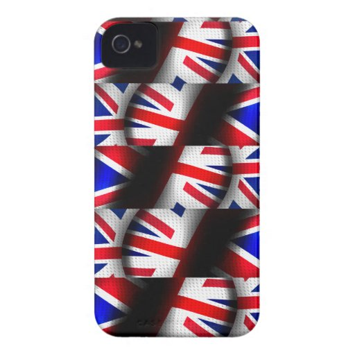 Abstract Patterned Union Jack Blackberry Bold Covers