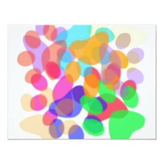 Abstract Paw Prints Invitation
