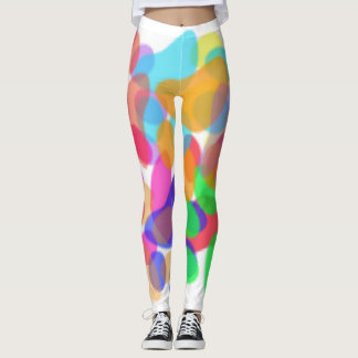 Abstract Paw Prints Leggings