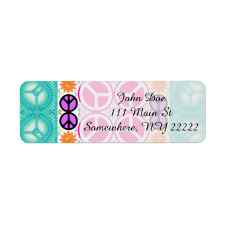 Abstract Peace Return Address Label