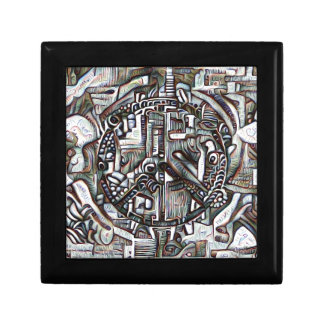 Abstract peace symbol gift box