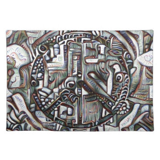 Abstract peace symbol placemat