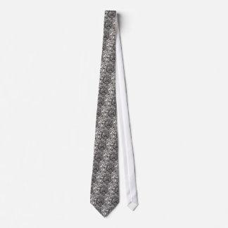 Abstract peace symbol tie