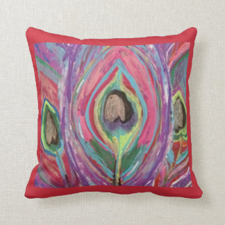 Abstract Peacock design throw pillow