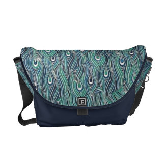 Abstract Peacock Feathers Commuter Bag Courier Bags