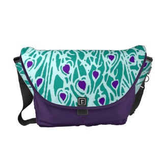 Abstract Peacock Feathers  Zero Messenger Bag